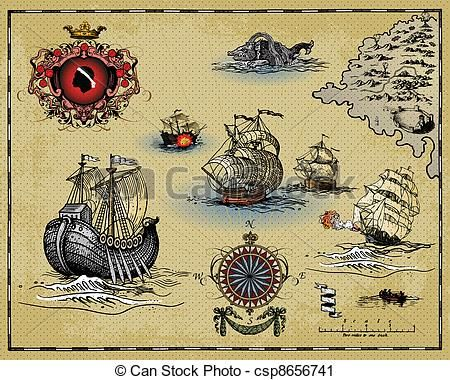 Vector clip art of antique map vector illustration of old vector clip art of antique map vector illustration of old gumiabroncs