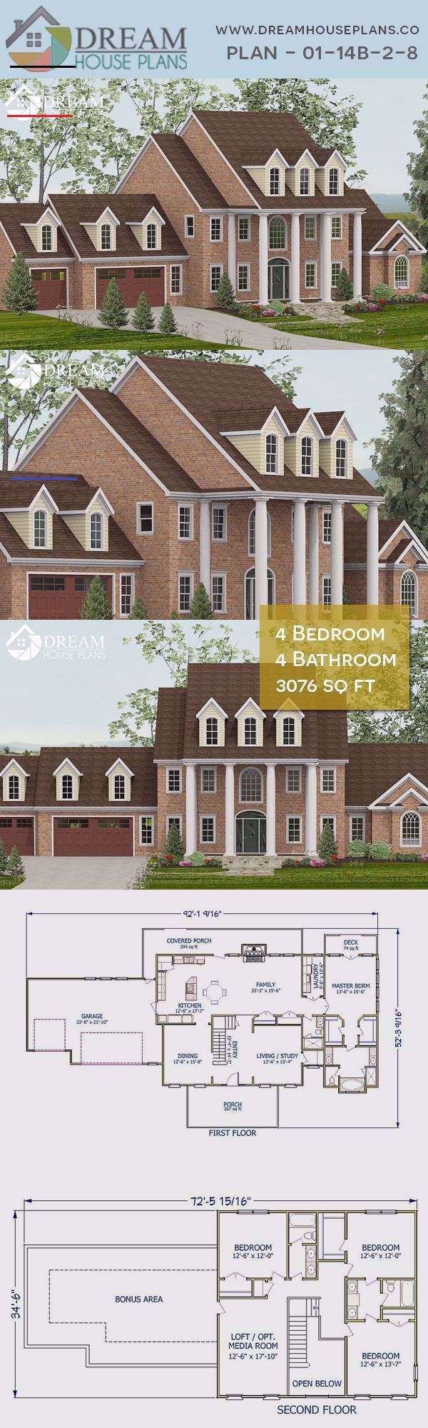Photo of Dream House Plans: Simple yet popular Craftsman 4 Bedroom, 3076 Sq. Ft. house pl…
