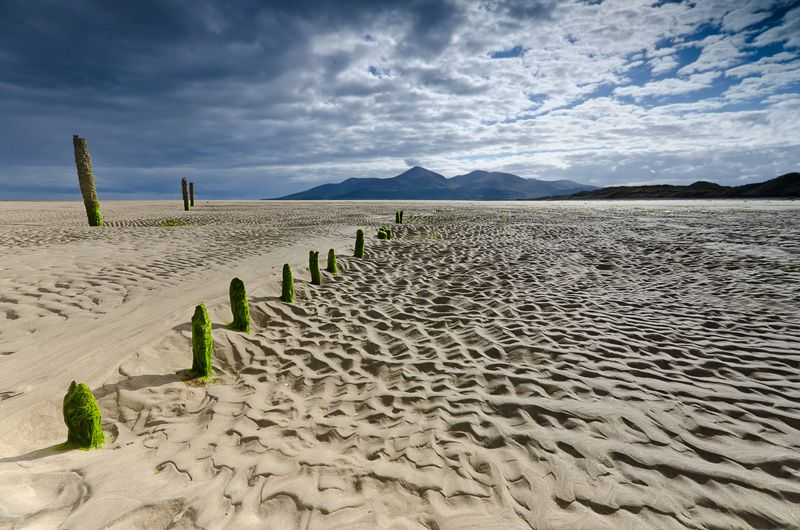 Murlough Beach Dundrum Co Down At Low Tide Mourne Mountains Beyond Ireland Landscape Landscape Photography Northern Ireland