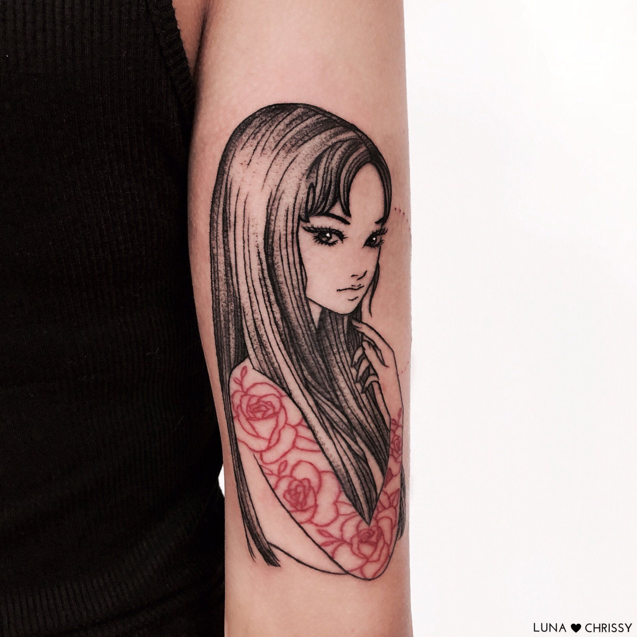 Chrissy on red ink tattoos body art tattoos black