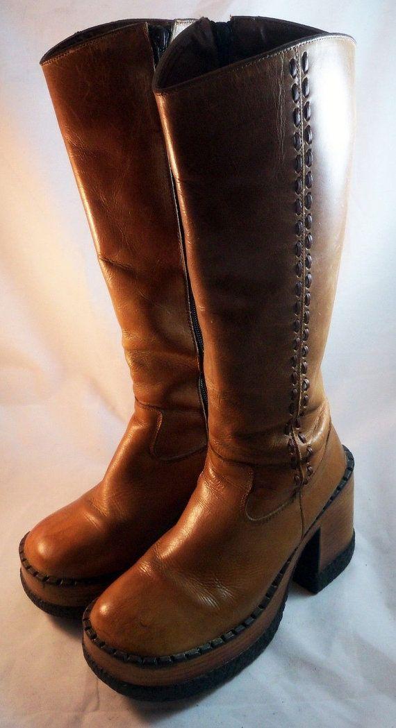 049b85dba009 VINTAGE 1990 LONDON UNDERGROUND Shoes Brown by ArtsetMetiersUT ...