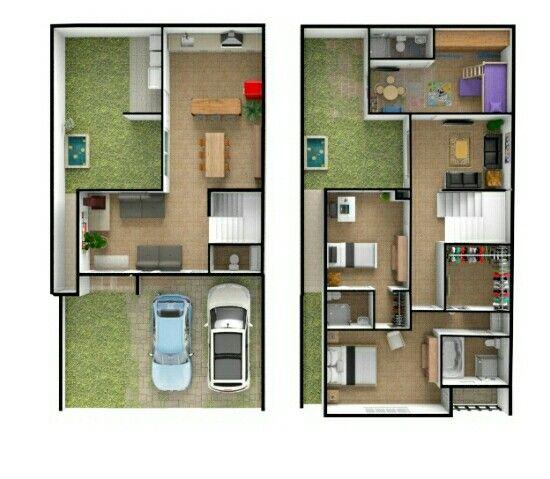 Opcion 145 Metros De Construccion Terreno De 8x15 3 Habitaciones