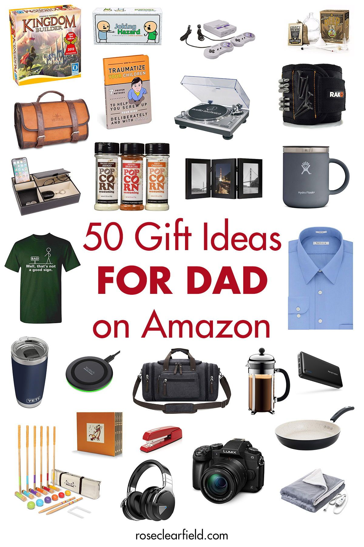 50 Gift Ideas For Dad On Amazon Diy Father S Day Gifts Unique Gifts For Dad Christmas Gift For Dad