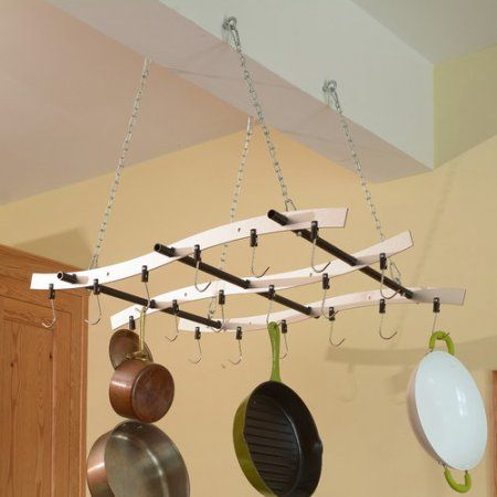 Zojila Madeira Ceiling Mount Pot Rack | Cottage and Bungalow ideas ...