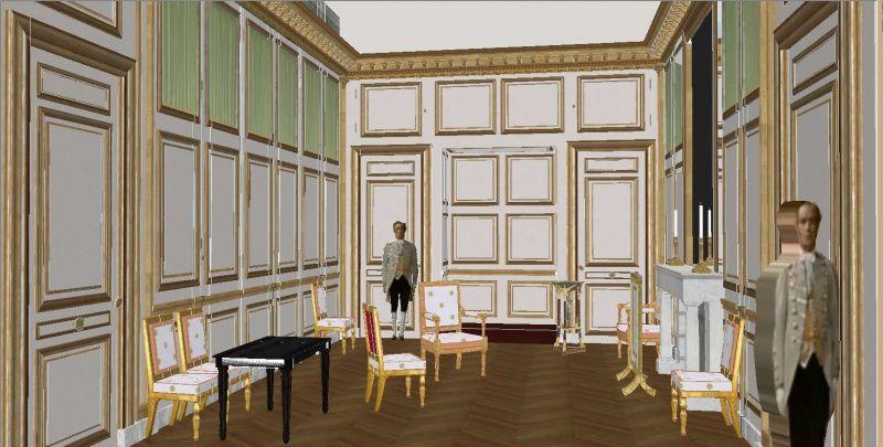 CABINET DE TOILETTE de l\'Empereur Napoléon Ier., avec ses placards ...