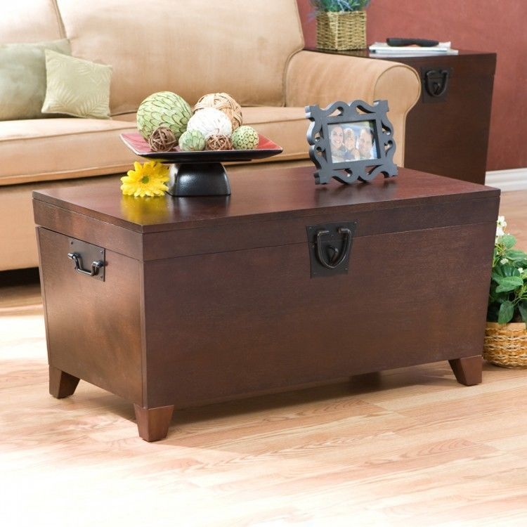 Large Storage Trunk Chest Wood Home Decor Coffee Table Living Room Furniture New