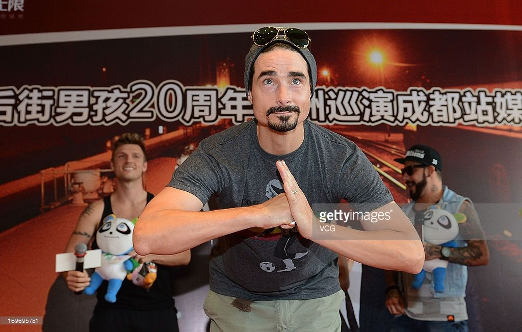 Kevin Richardson of Backstreet Boys attends meeting with fans on May 30, 2013 in Chengdu, Sichuan Province of China.