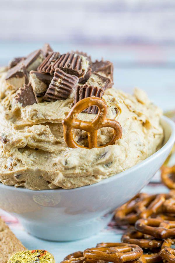Peanut Butter Cup Cheesecake Dip   Bunsen Burner Bakery