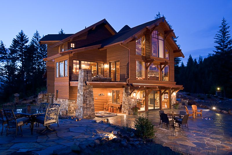 Mountain homes on pinterest mountain homes mountain for Mountain houses