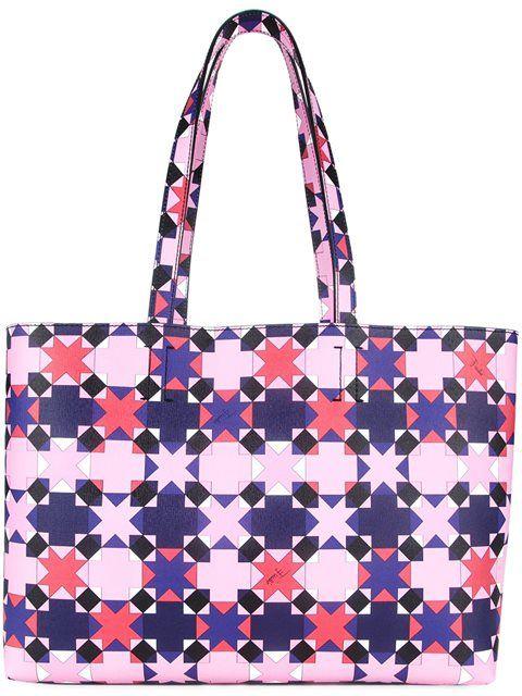 printed shopper tote - Pink & Purple Emilio Pucci C3bQVXe7mn
