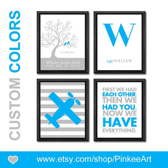 Personalized baby stats family tree baby announcement birds in a personalized baby stats family tree baby announcement birds in a tree new baby gift birth date negle Image collections