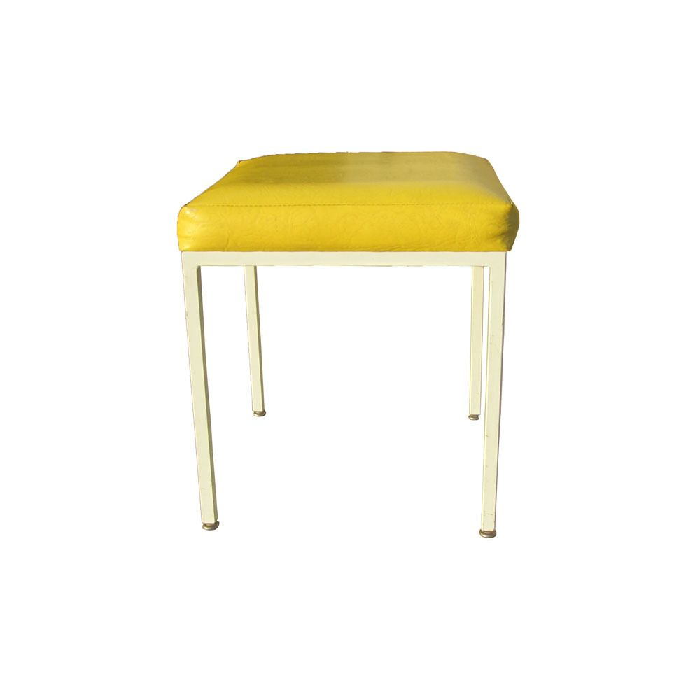 Terrific Vintage Mid Century Frederic Weinberg Yellow Stool Make Andrewgaddart Wooden Chair Designs For Living Room Andrewgaddartcom