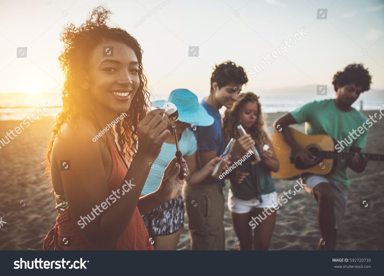 Group Of Friends Having Fun On The Beach Making A Bonefire Sponsored Ad Fun Friends Group Bonefire Photo Editing Stock Photos Creative Photography