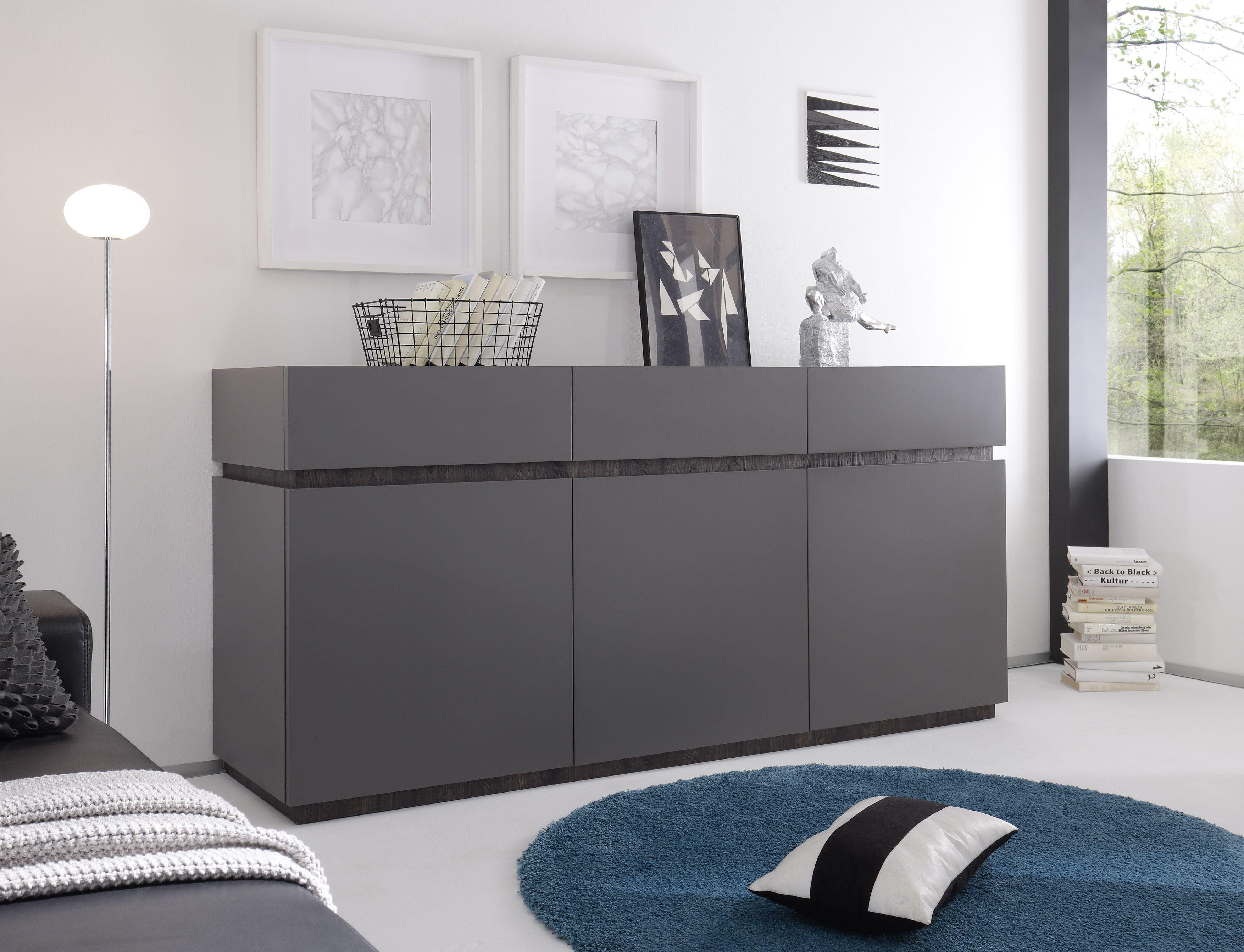 Sideboard Anthrazit/ Wenge Woody 12 01064 Holz Modern Jetzt Bestellen  Unter: Https: