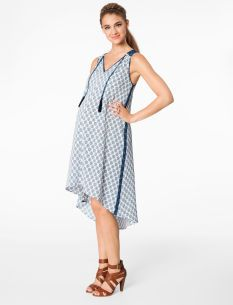 Rachel Zoe Sleeveless Printed High-low Maternity Dress
