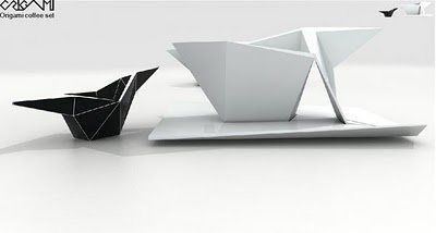 origami coffee cup