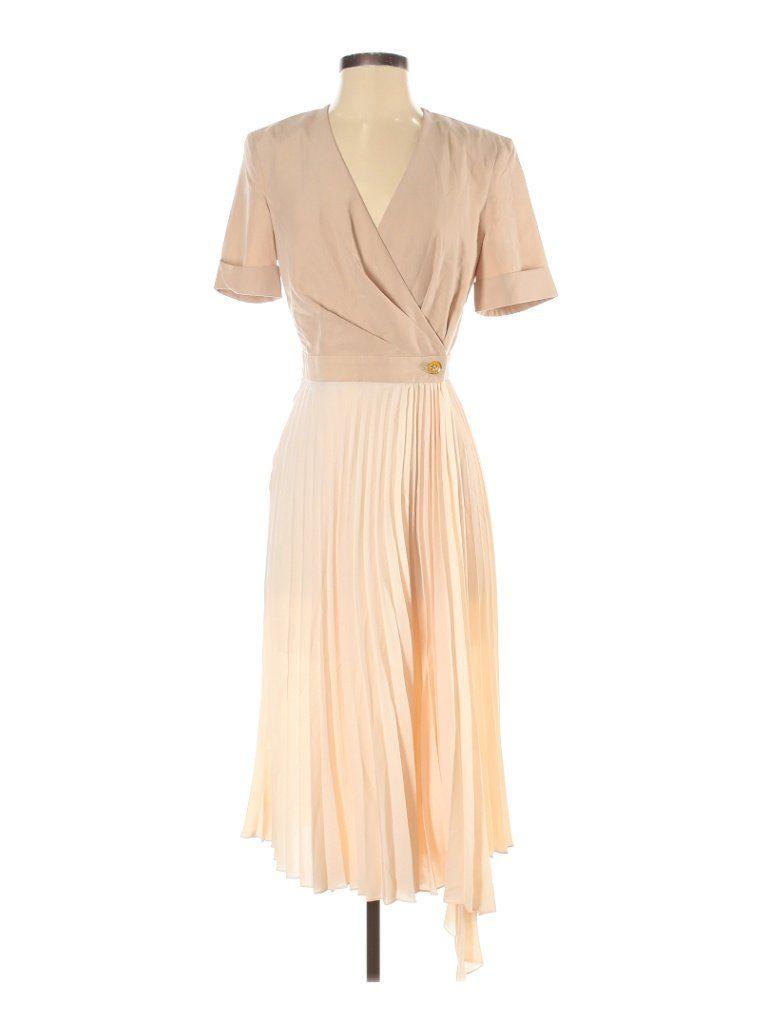 Sandro Casual Dress Midi Tan Solid Dresses Used Size 36 Womens Dresses Casual Dress Casual Dresses [ 1024 x 768 Pixel ]