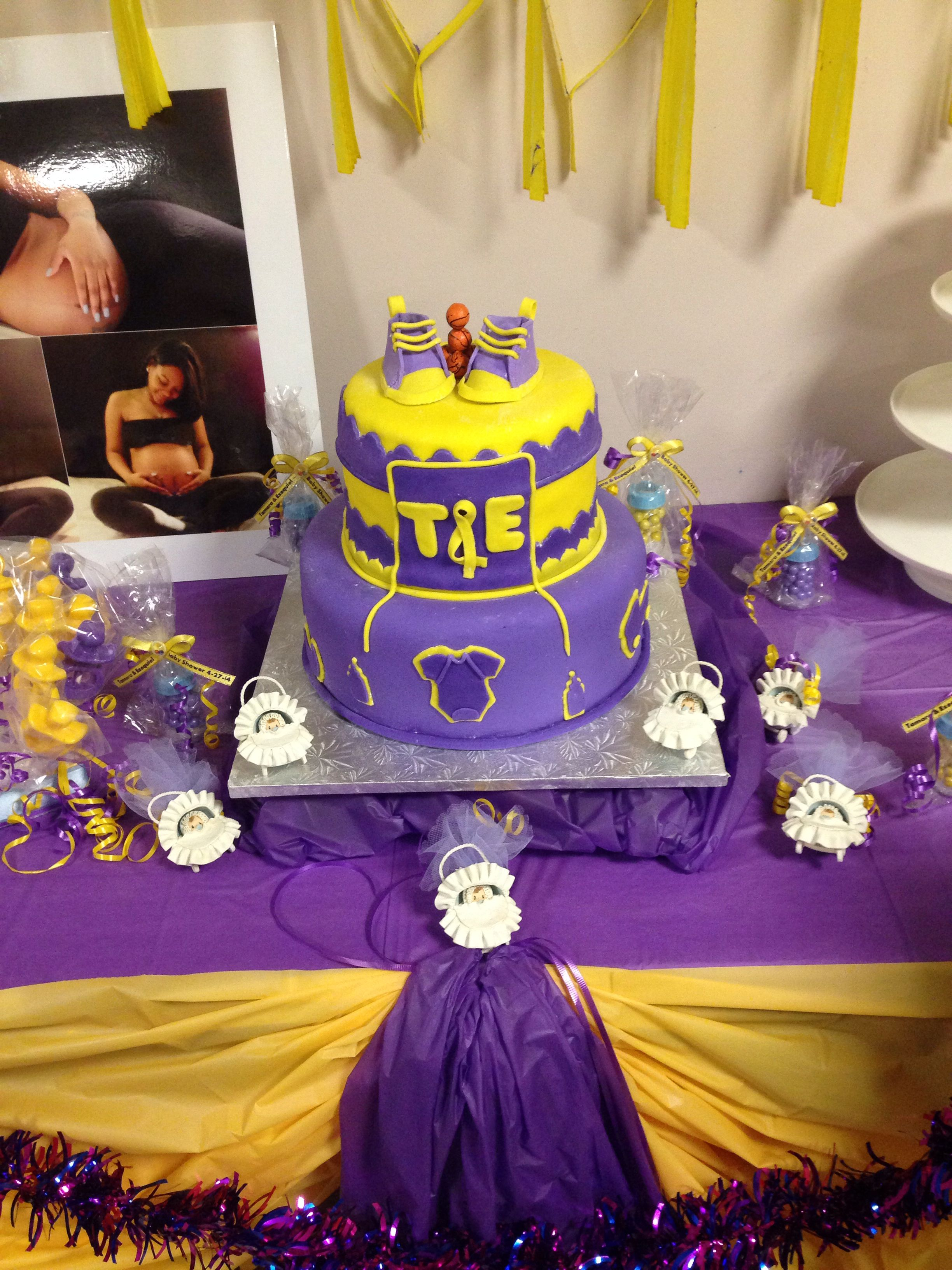 Lakers Baby Shower Cakes Pinterest