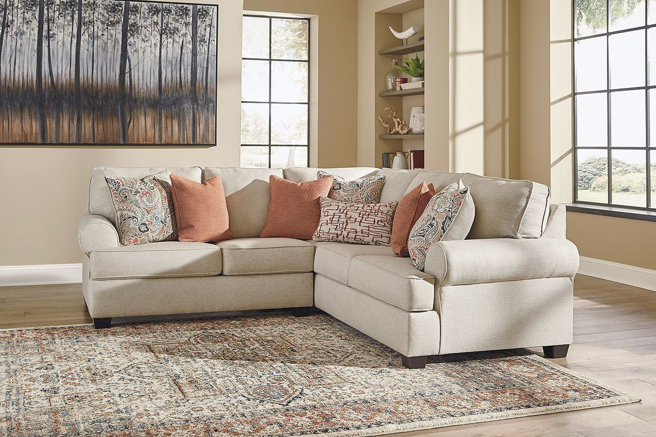 Amici Linen Sectional Linen Sectional Ashley Furniture Sectional