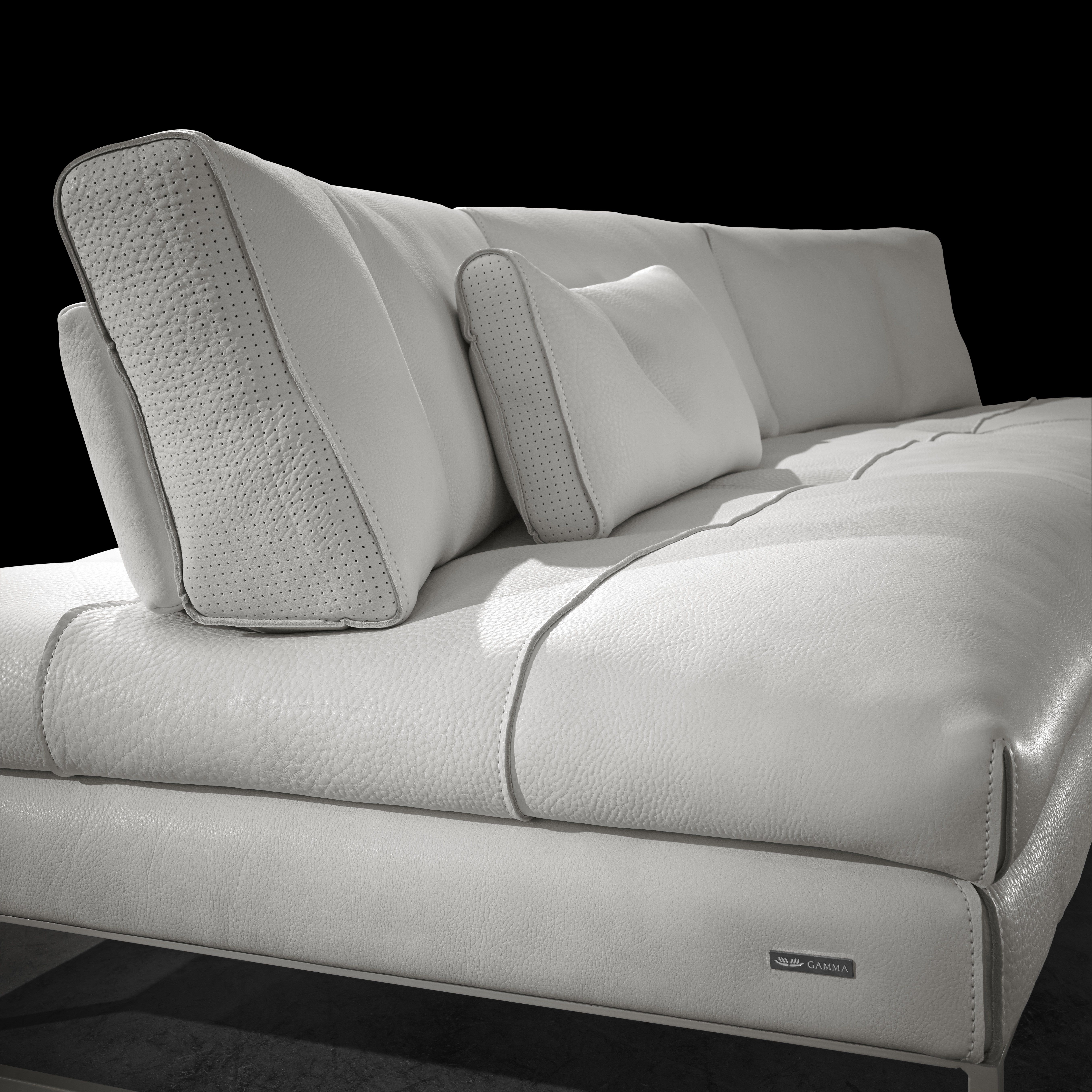 Gamma Sofas European Style Sofa Set Furniture Quotsunset Quot By Perforated Back Cushion Detail