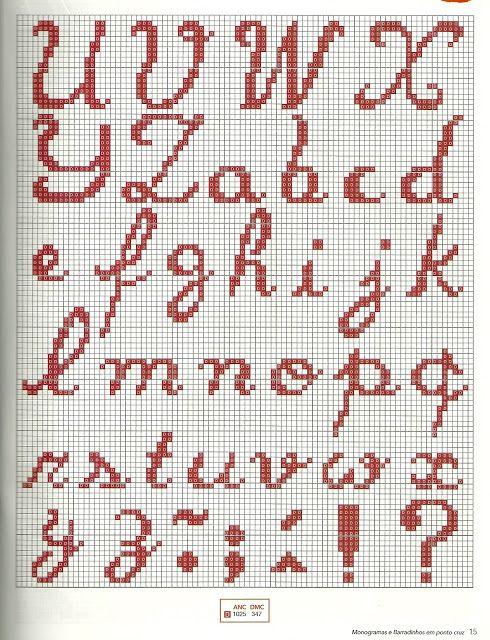 ♥Meus Gráficos De Ponto Cruz♥: Natal-Alfabeto
