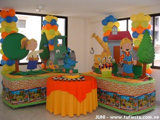 Ambientacion fiesta de bob construye pi ata decoraci n - Bob el manitas ...