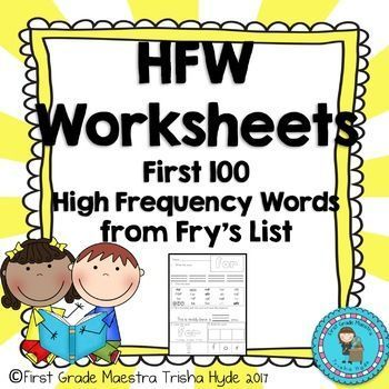 Fry First 100 Sight Word Flashcards - Free By Amandau0027s Little