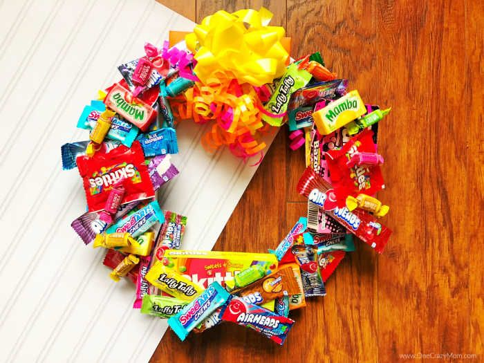 Easy Homemade Candy Wreaths