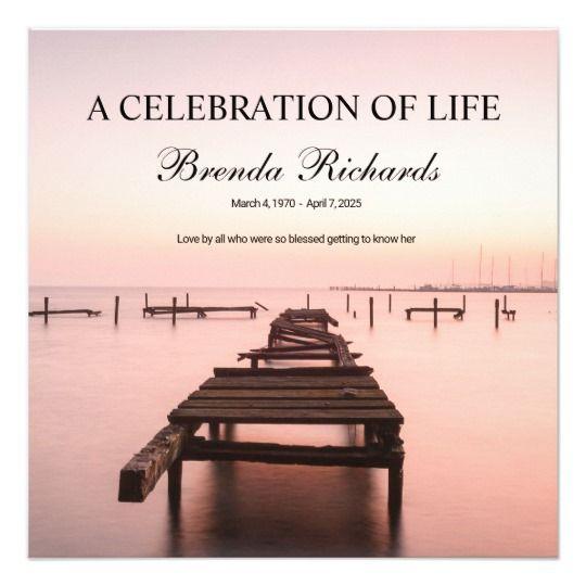 Celebration Of Life Invitation Template All Things Zazzle - celebration of life templates