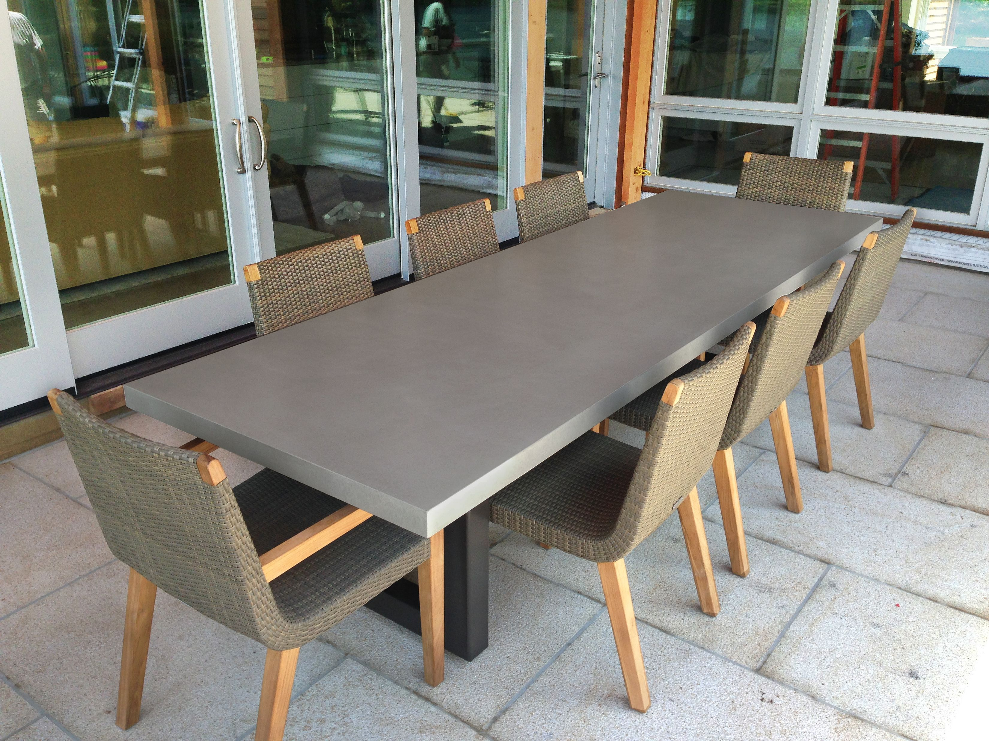 Zen Concrete Dining Table in 2020 Dining table, Concrete