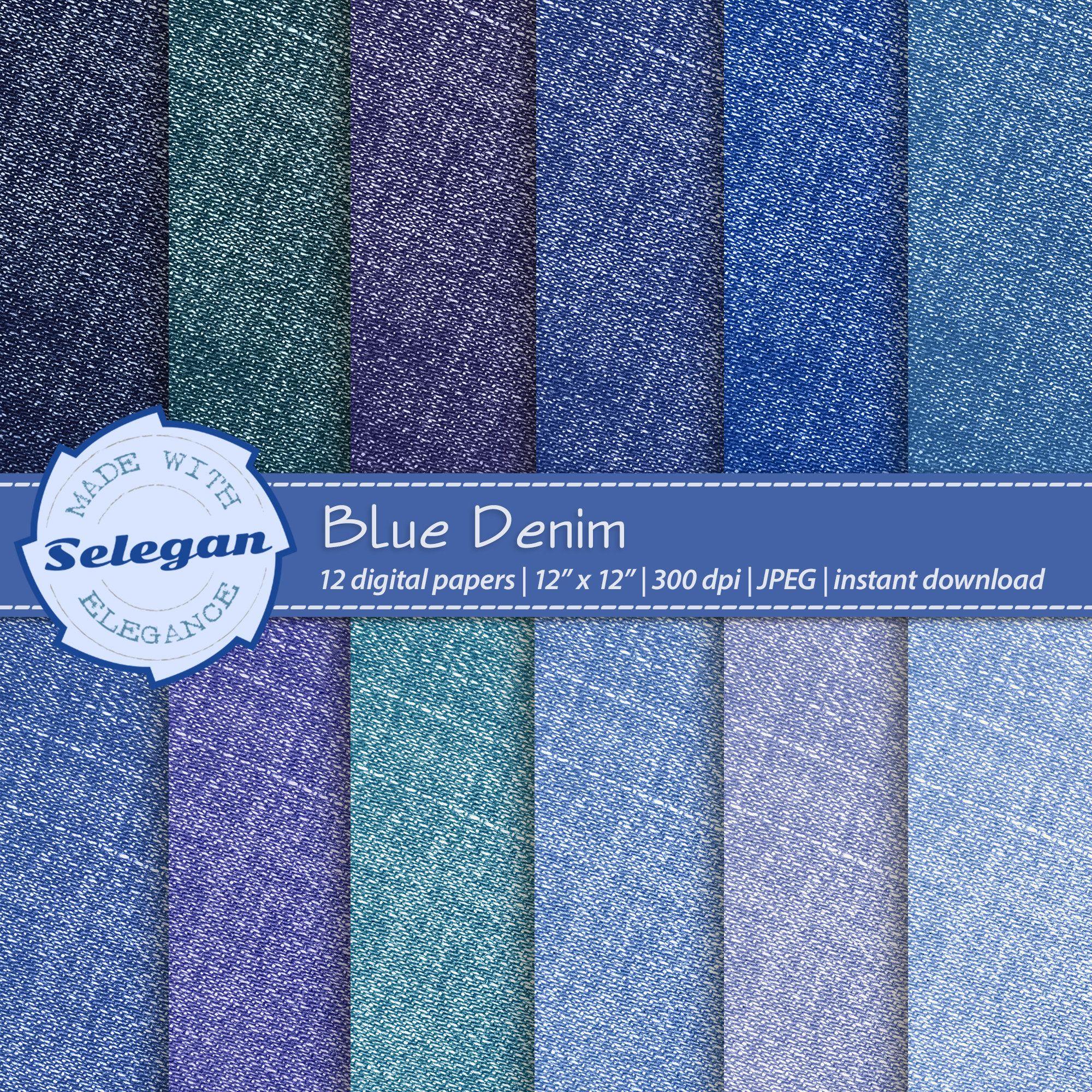 14+ Blue Jeans Digital Scrapbook Paper Image