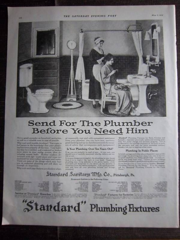 Standard Plumbing Fixtures Maid Hair Bathroom Ad Plumbing - Bathroom maid