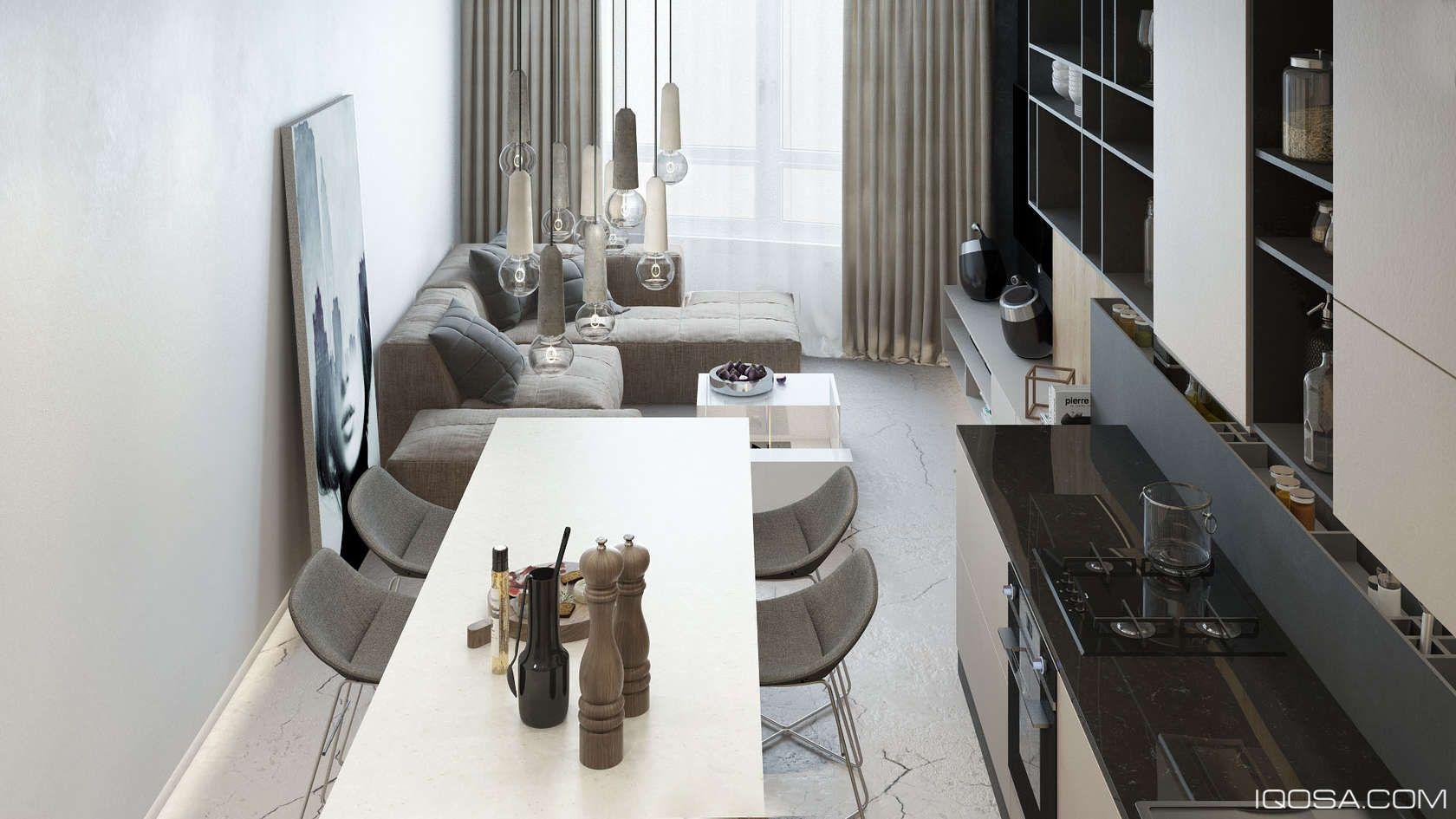 Luxury Small Studio Apartment Design Combined Modern And Minimalist Style Decor Looks Stunning Luxury Apartments Interior Apartment Layout Apartment Design