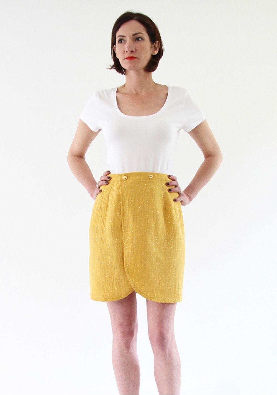 Patron de couture jupe Malo – I am Pattern – Little Fabrics