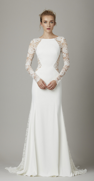 Lela Rose Long Sleeved Wedding Dress