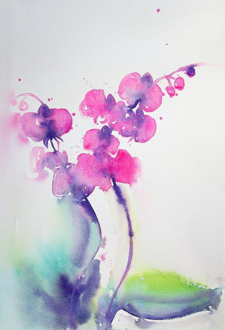 Orchidee Art Peinture Aquarelle Aquarelle Art Orchidee