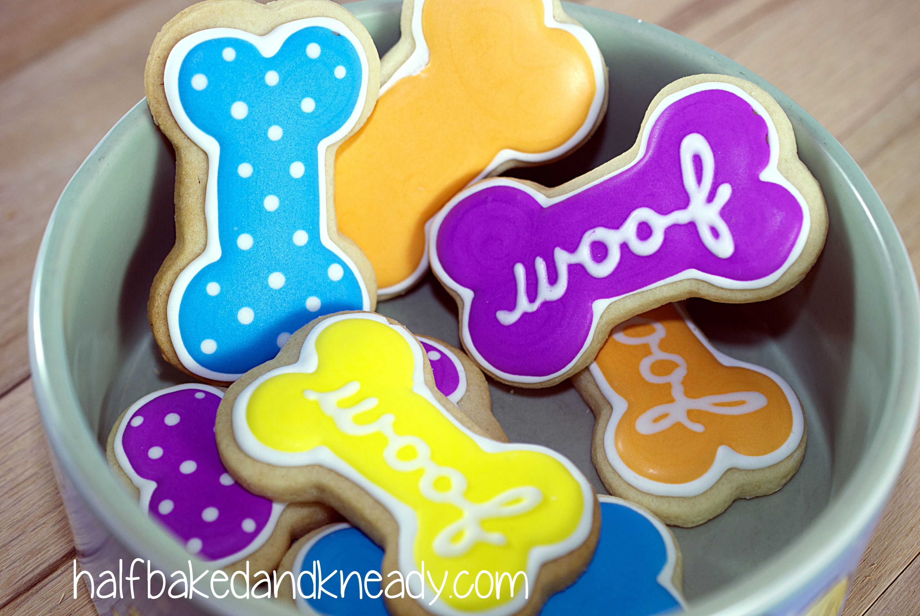 Dog Bone Decorated Sugar Cookies For Humans Royal Icing Purple