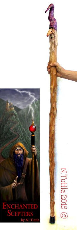 Original walking staff wood carving magic wizard stick for Will oil paint stick to glass