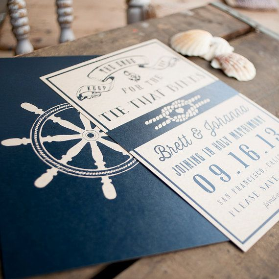 Rustic Wedding Nautical Save The Date Nautical Wedding Save The Date Card Ship Wheel Anchor Nautical Wedding Wedding Stationery Rustic Wedding Stationery