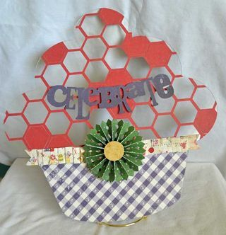 Cupcake tutorial by Guiseppa Gubler using the September Creating Made Easy Kit and Clear Scraps Acrylic Cupcake.  www.clearscraps.com