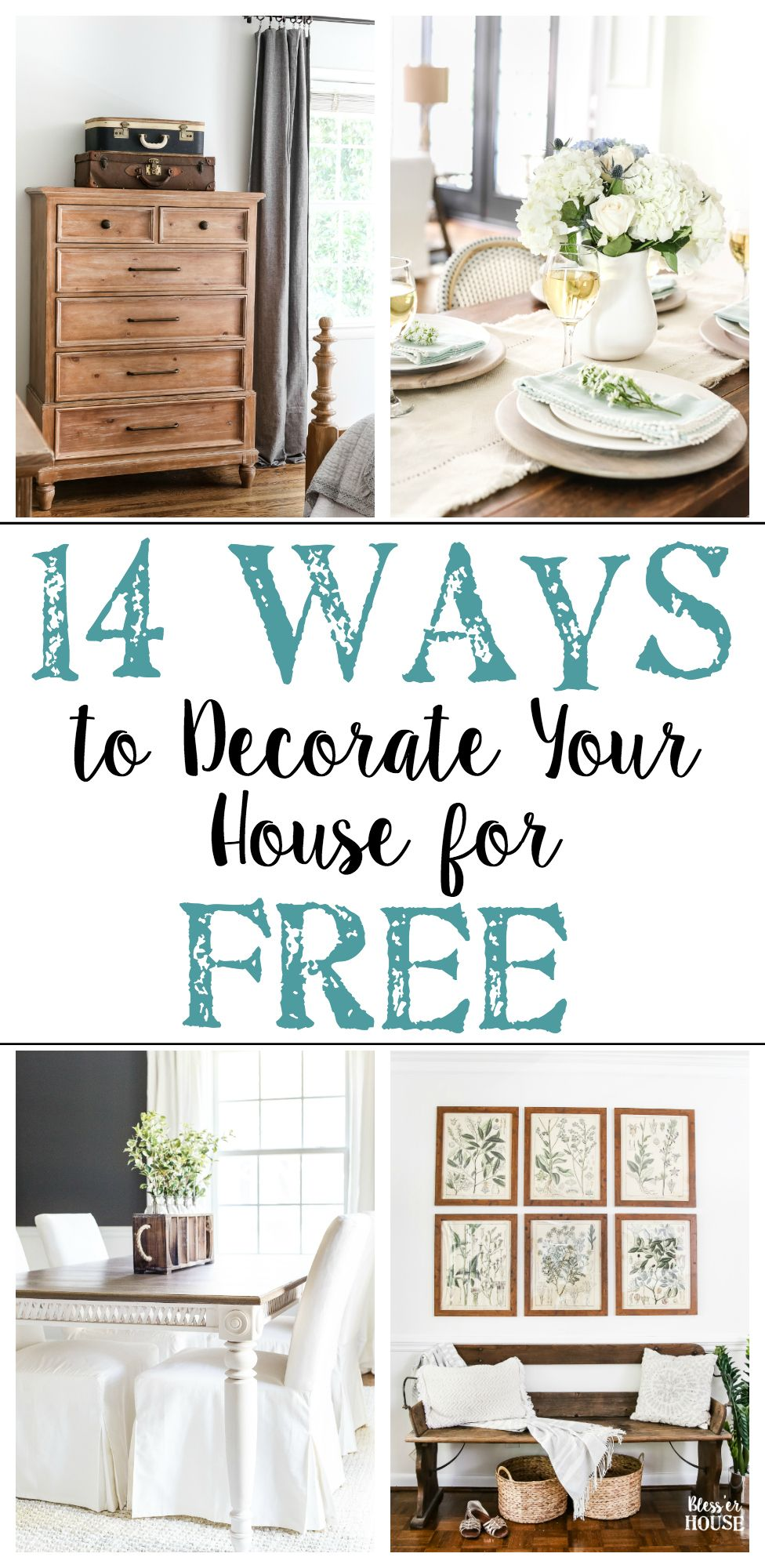 14 Ways To Decorate Your House For Free Home Decor Affordable