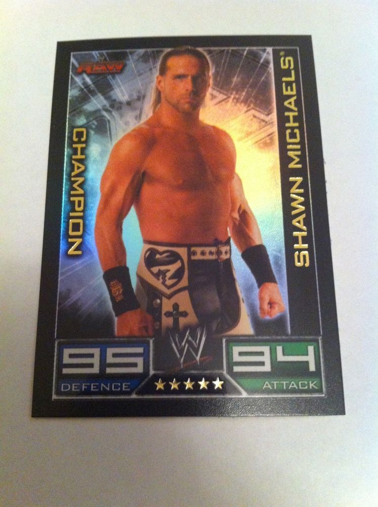 Topps Slam Attax WWE Raw Champion Shawn Michaels Shiny