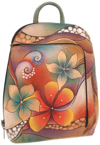 Amazon.com: Anuschka 487 TRB Backpack,Tribal Bllom,One Size: Clothing