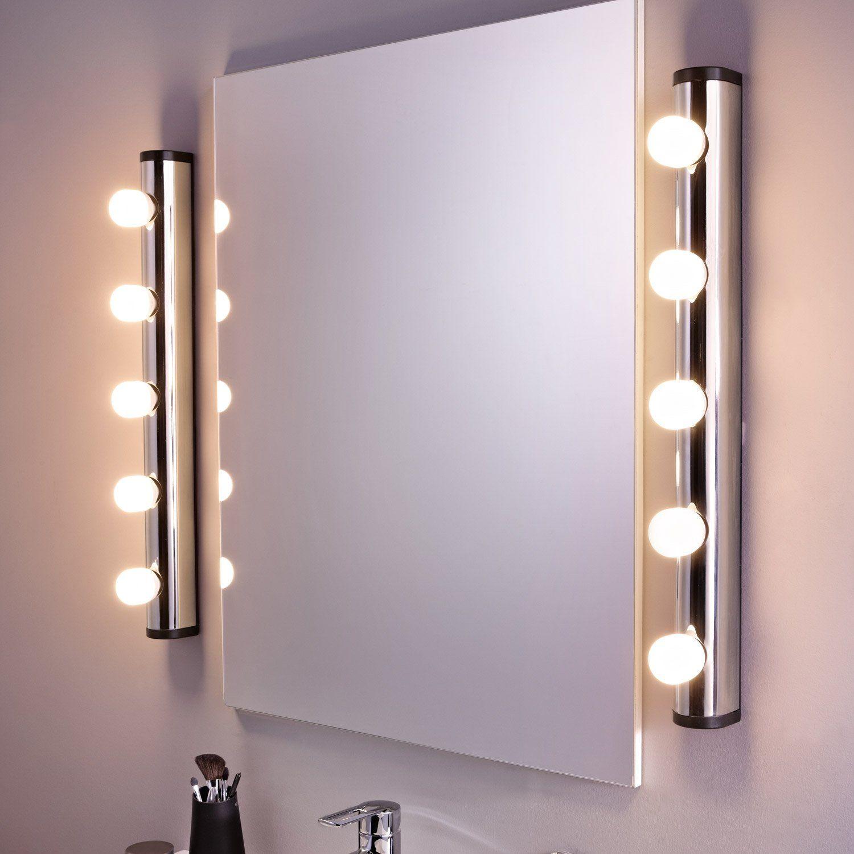 Applique Liz Sans Ampoule 11w E14 Miroir Salle De Bain Eclairage Salle De Bain Salle De Bain Castorama