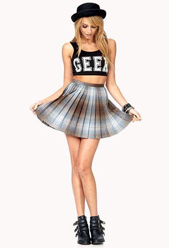 Geek Girl Crop Top | FOREVER 21 - 2000076465