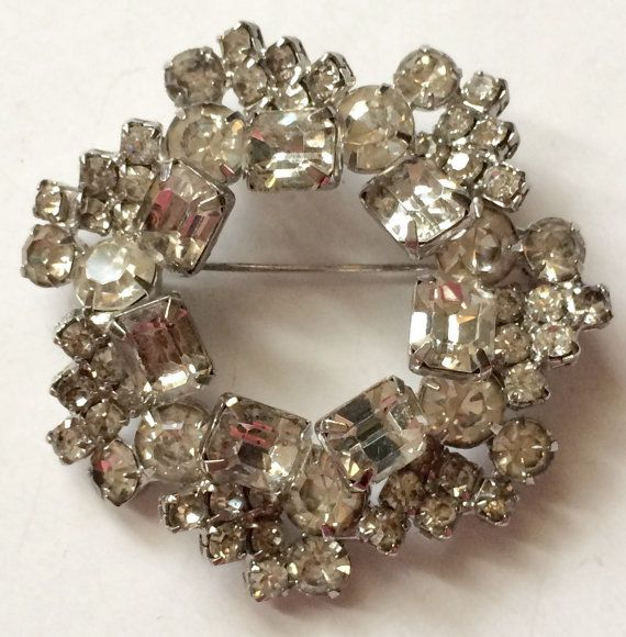 Vintage rhinestone brooches unsigned does plan?
