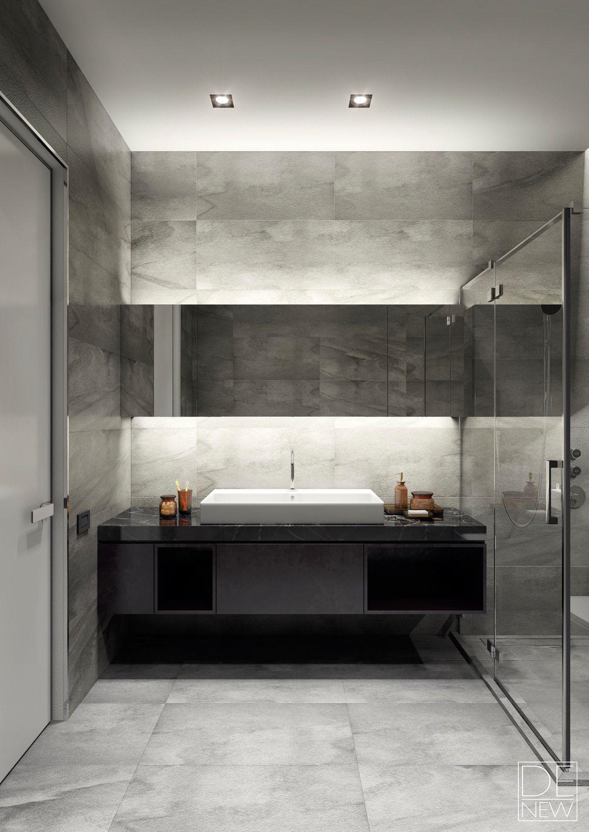 two apartments with texture one soft one sleek interior pinterest badezimmer b der und. Black Bedroom Furniture Sets. Home Design Ideas