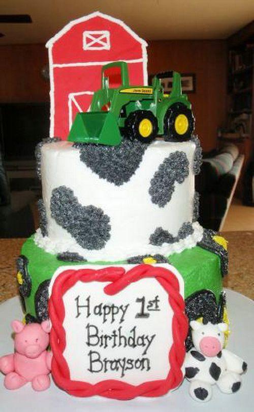 1st Birthday John Deere Cakes Tractor Topper Birthday Cake Ideas