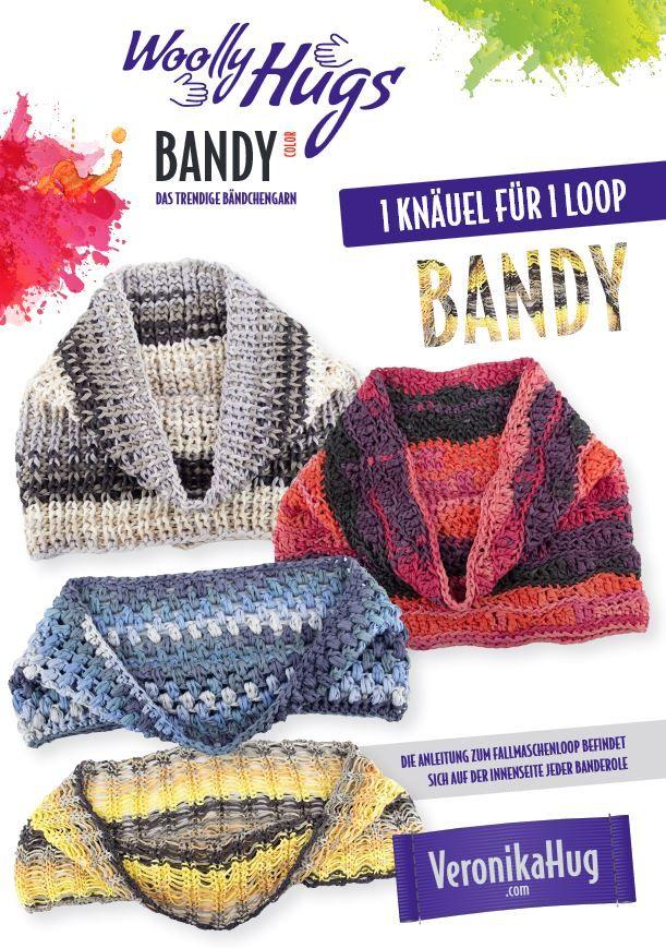 Loop Woolly Hugs Bandy Anleitungen Pro Lana Pinterest