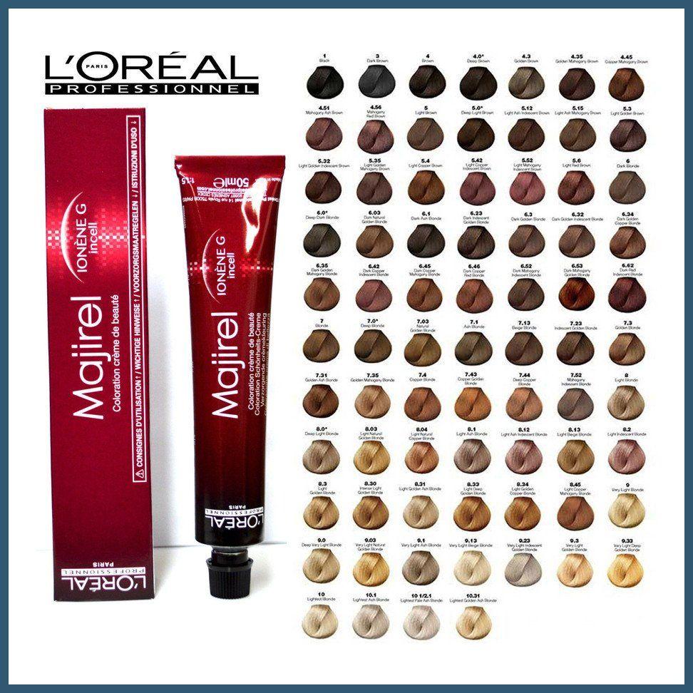 Loreal Hair Color Chart Loreal Hair Color Majirel Loreal Majirel 5 8 Tutorials In 2020 Loreal Hair Color Loreal Hair Color Chart Hair Color Chart